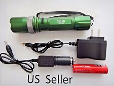 Brand new 800 LM 50W LED rechargable Zoomable Torch flashlight Lamp GREEN 06