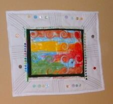 handmade art quilt mixed media art wall hanging home decor