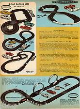 1969 ADVERTISEMENT 2 Pg Race Sets Aurora Strombecker Le Mans European Rallye
