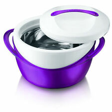 Brand New Purple 4L Hot Pot Insulated Food Warmer Thermal Hotpot Casserole