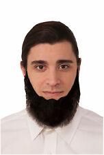 Farmer Beard Black Amish Chin Beard Facial Hair Cosplay Self Adhesive