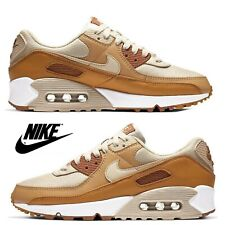 Nike Air Max 90 Women's Sneakers Casual Shoes Premium Running Sport Gym Brown