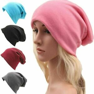 Quality Women Mens Knitted Cotton Oversized Slouch Beanie Hat Cap Skateboard