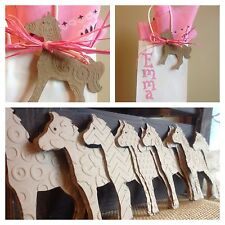24 western horse pony party favor Kraft labels girl paisley chevron dot