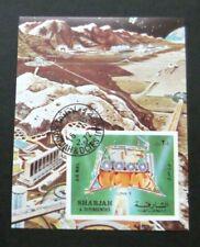 Sharjah-1972-Luna 9/Space Minisheet-Imperf Used