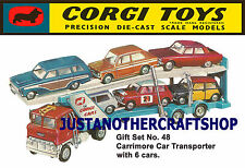 Corgi toys gs 48 ensemble cadeau voiture transporter A3 taille affiche pub dépliant signe