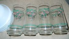 "CORELLE ROSEMARIE GLASS TUMBLERS-16 ounce - 5 7/8"" - Drinking Glasses (4)"