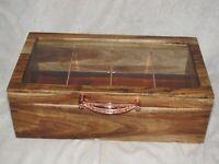 MIJENKO TEA BOX ROSE GOLD ACACIA WOOD