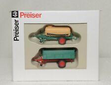 HO PREISER 17917 2 TRAILERS NEW