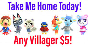 Animal Crossing Villager Move-In! Raymond Judy Audie Dom Sherb Cyd Reneigh