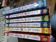 Diary Of A Wimpy Kid Books, 5 paperbacks, one hardback, very good condition.