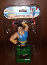 Solar Power Dancing Toys  Weightlifting Man.