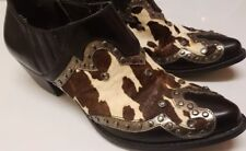 Reba Cow Skin Ankle Boots Size 6M