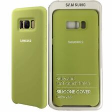 Samsung Galaxy S8+ Plus Silicone Soft-Touch Finish Phone Cover in Gree