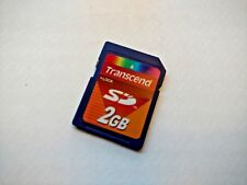 GENUINE 2GB TRANSCEND SD MEMORY CARD - UK SELLER