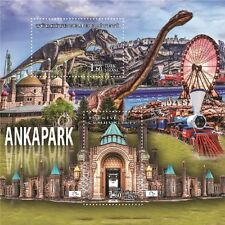 TURKEY 2017, ANKAPARK, DINOSAURS, TRAIN, SOUVENIR SHEET, MNH