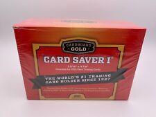 More details for card savers cardboard gold plastic semi rigid x200 💎 psa/bgs/grading holder 💎