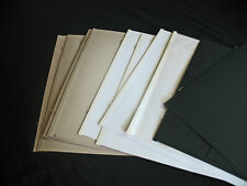 Creative Memories 12x12 White, Black, Natural Scrapbook Pages Loose LOT of 12