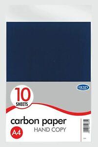 A4 Carbon Paper Black Typewriter Duplicate Hand Copy - Pack 10
