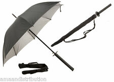 UMBRELLA ACTION BLACK UMBRELLA GOLF FISHING BROLLY RAIN SHOULDER STRAP GIFT