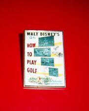 WALT DISNEY'S GOOFY - HOW TO PLAY GOLF CARTOON POSTER PIN