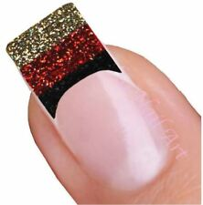 German Glitter Flag Tips Deutch Adhesive Nail Stickers, Decals, Art 01.02.062