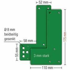 GFS Montageplatte 901470 DIN links rechts für Glasrahmen