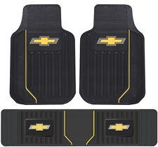 New Licensed Elite Chevy Style Heavy Duty Rubber Front Floor Mats & Runner