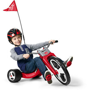 Radio Flyer Big Sport Chopper Tricycle 16 Inch Front Wheel Adjustable Seat Grows