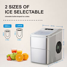 Ice Maker Machine Portable Compact Automatic Ice Maker With Scoop and Basket Usa
