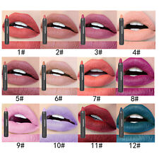 12 Couleurs Maquillage Crayon à Lèvres Rouge à Lèvres Mat Gloss Durable étanche