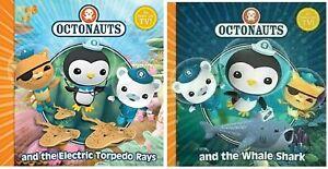NEW  x  2 OCTONAUTS books  ELECTRIC TORPEDO RAYS and WHALE SHARK