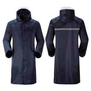 Adults Waterproof Raincoat Long Trench Unisex Womens Mens Rain Coat Jacket AU