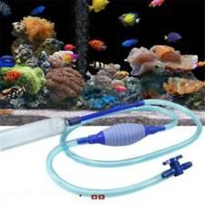 Aquarium Vacuum Siphon Cleaner Gravel Fish Safe Tank Pump Water Change Switch YU