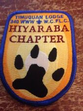 Timuquan Lodge #340 Hiyaraba Chapter X-4 Patch OA Order of the Arrow Blue 72-A3