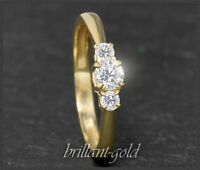 Diamant Brillant 585 Gold Ring; Verlobungsring 0,36 ct; River D & Lupenrein; NEU