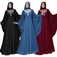 Dubai Abaya Farasha Kaftan Long Maxi Gown Muslim Women Dress Cocktail Robe Party