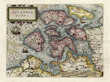 VINTAGE MAP ZELANDIA ZEALAND DENMARK ART POSTER PRINT LV4758