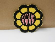 "CLASSIC "" L O V E  FLOWER ""   IRON OR SEW ON FABRIC PATCH  3"" IN DIAMETER"