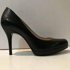 Nine West Kristal Black Leather High Heel Pumps Size 8