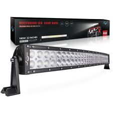 Mictuning ® 32 in (approx. 81.28 cm) 180 W LED Luz Barra Curvada impermeable durable brillante Off Road