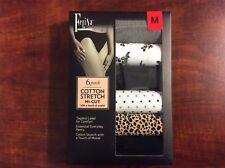 Felina Women's Bikini Cotton Stretch Hi-Cut -Fashion 6 Pack (M, Multi-Color)