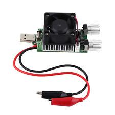 35W DC 3V-21V 3A Adjustable USB Electronic Load Battery Discharge Tester  Fan SG