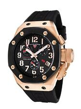 Swiss Legend 10541-RG-01-BB Mens Trimix Diver Chronograph Watch Black New in Box