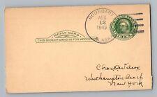 Boundary Alaska AK 1949 4-Bar Cancel Postcard DPO Signed Postmaster Dorothy Krug