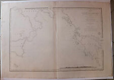 Carte marine nautical map Adriatique Italie Grèce  XIXème s
