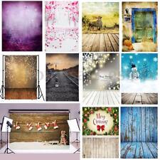 5x7ft Vinyl Christmas Wood Wall Floor Backdrop Photography Photo Props Xmas Gift