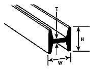 Plastruct 7.9mm H Beam 5 un. # HFS-10