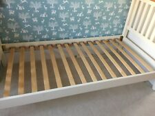 Single Rubberwood and Oak bed with Ikea Malfors medium/firm mattresses x2