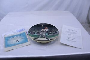 1992 The Legends of Baseball Babe Ruth Collector Plate 22k Gold Trim Hand Number